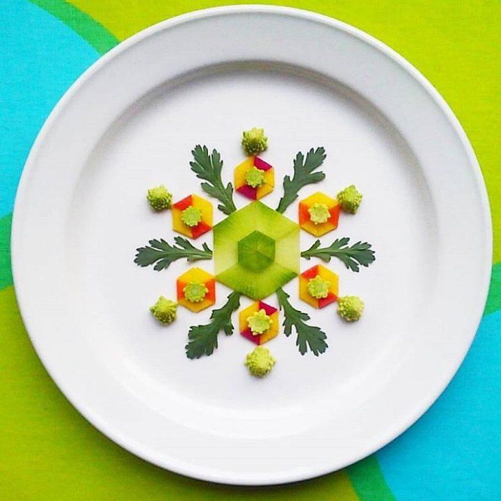 25.新鮮野菜でつくる、お皿の上の味わうアート